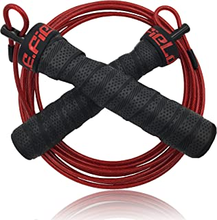 P.E.Field Speed Jump Rope - Skipping Rope - Adjustable with Ball Bearings - Designed for Crossfit, Double Unders, WOD, MMA & Boxing Training - Allow You to Boost Your Aerobic Results.