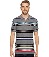 Lacoste - Short Sleeve Mouline Striped Heavy Pique Jaspe Polo - Regular Fit