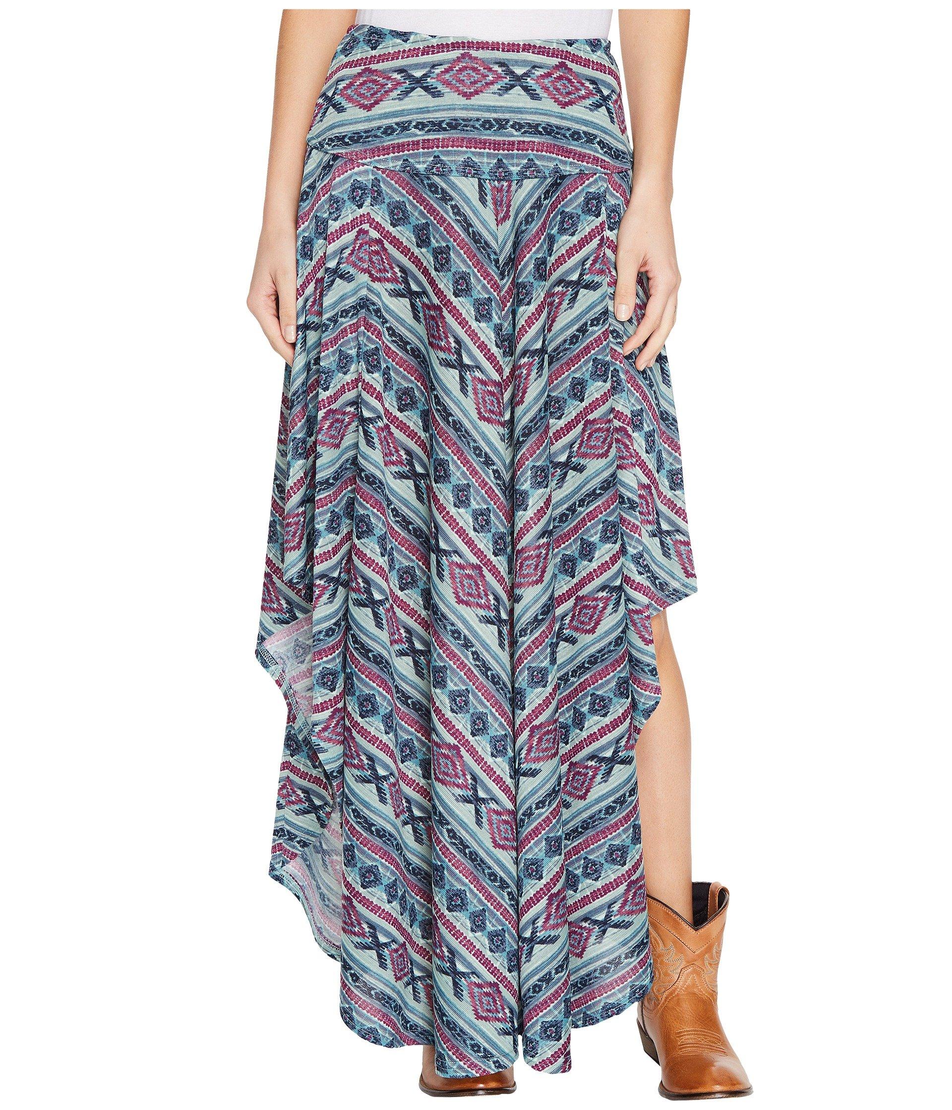 Falda para Mujer Double D Ranchwear Butterfly Bleu Long Skirt  + Double D Ranchwear en VeoyCompro.net