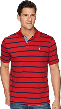 Classic Fit Yarn-Dyed Striped Knit Polo