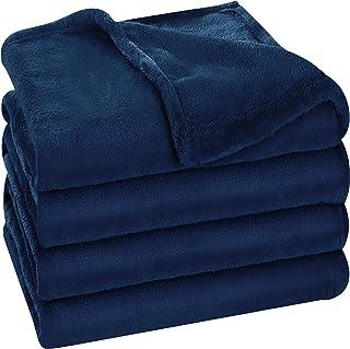 Utopia Bedding Fleece Blanket King Size Navy 300GSM Luxury Bed Blanket Fuzzy Soft Blanket Microfiber