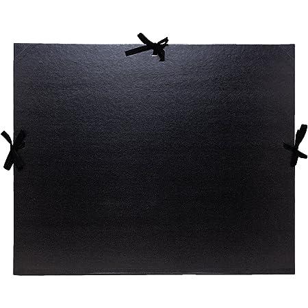 Exacompta 25738E Classeur à dessin avec archets pour format Din A3, Kraft, 32 x 45 cm, noir