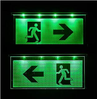 Noodverlichting noodverlichting exit nooduitgang vluchtpad noodlicht vluchtweg pijl naar links/rechts
