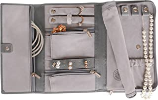 Saffiano Leather Travel Jewelry Case - Jewelry Organizer by Case Elegance