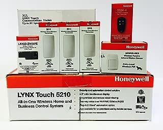 Honeywell Lynx 5210 Panel, (3) 5815, (1) 5800PIR-RES, (1) 5834-4, ZWAVE and 3GL GSM Cellular Communicator