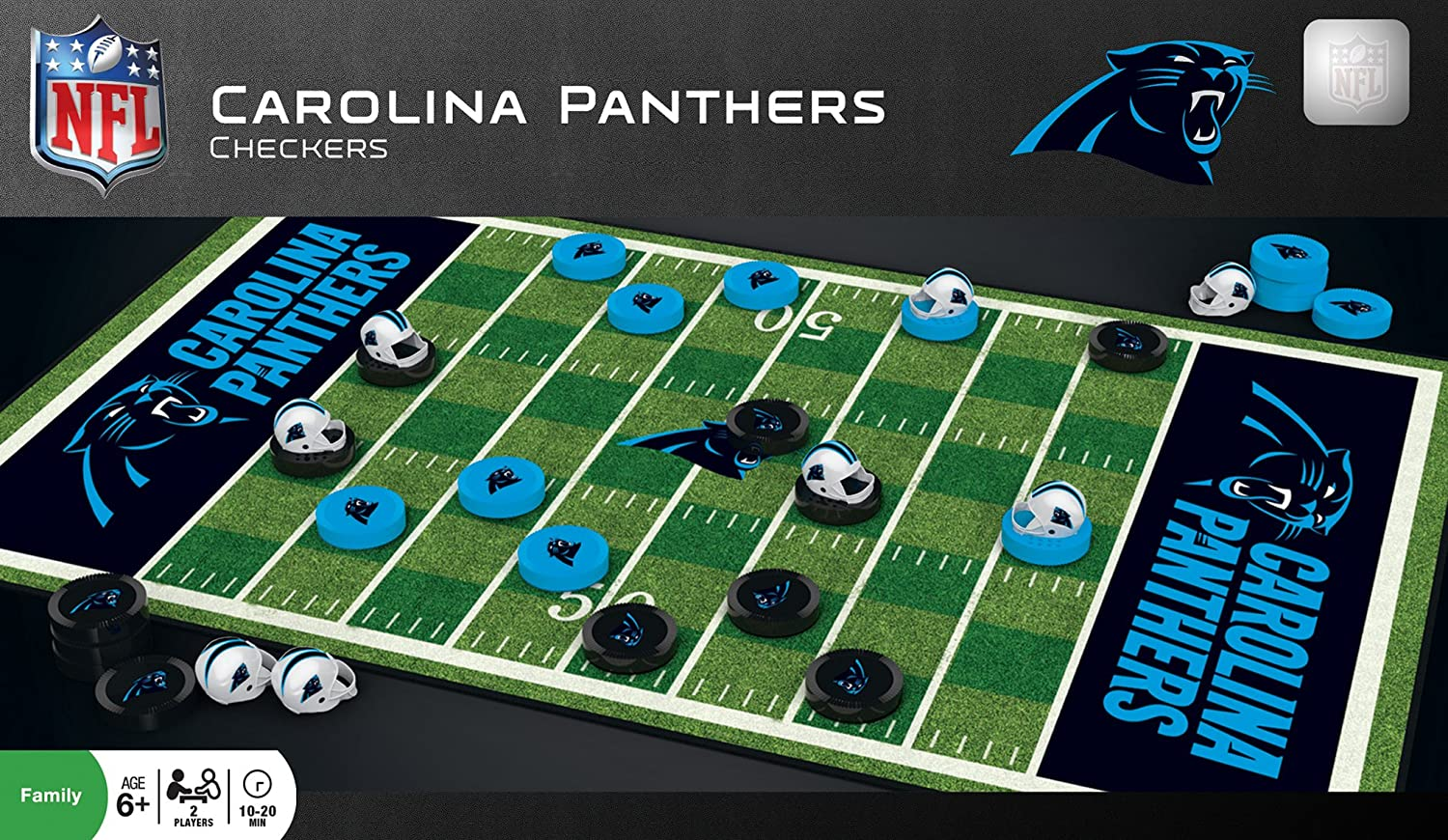 MasterPieces NFL Carolina Ranking TOP11 Panthers Checkers Game Set Don't miss the campaign For Board