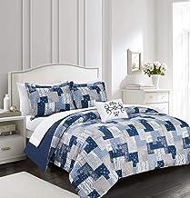 Chic Home Utopia 4 Piece Reversible Duvet Cover Set Patchwork Bohemian Paisley Print Design Bedding - Decorative Pillow Sh...