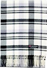 2 PLY 100% Cashmere Scarf Elegant Collection Made in Scotland Wool Solid Plaid Men Women