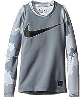 Nike Kids - Hyperwarm Long Sleeve AOP Crew Top (Little Kids/Big Kids)