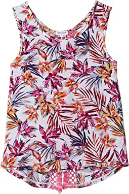 All Over Print with Fringe Trim Top (Big Kids)