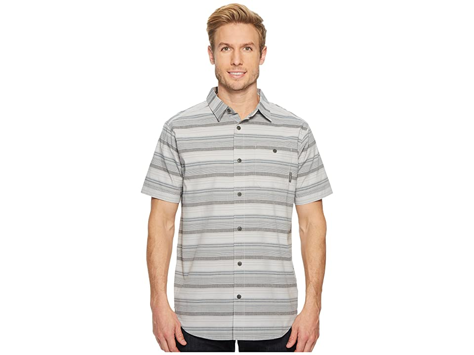 Columbia Boulder Ridge Short Sleeve Top (Columbia Grey Stripe) Men