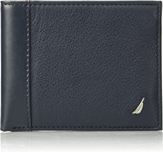 Nautica Men's Milled Leather Passcase Wallet