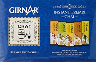 Girnar Instant Tea Premix Variety Pack, 36 Sachets