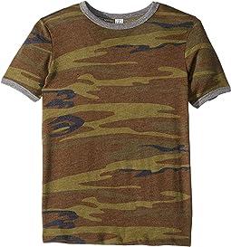 Eco-Jersey Printed Ringer T-Shirt (Big Kids)