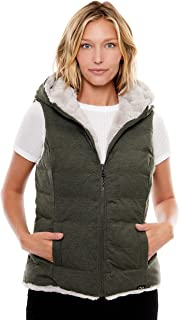 Women's Water-Resistant Knit Reversible Faux Fur Vest