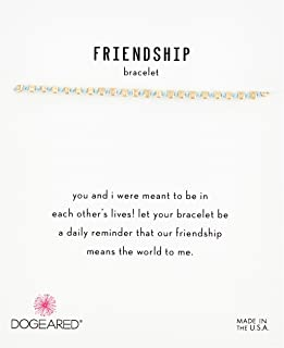 Dogeared Womens Gold Blue Friendship Bracelet, 9