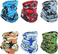 Bandana Neck Gaiter Balaclava Face Mask UPF 50+, Seamless Cooling Reusable Headwear for Men/Women/Teens,Breathable Anti Dust