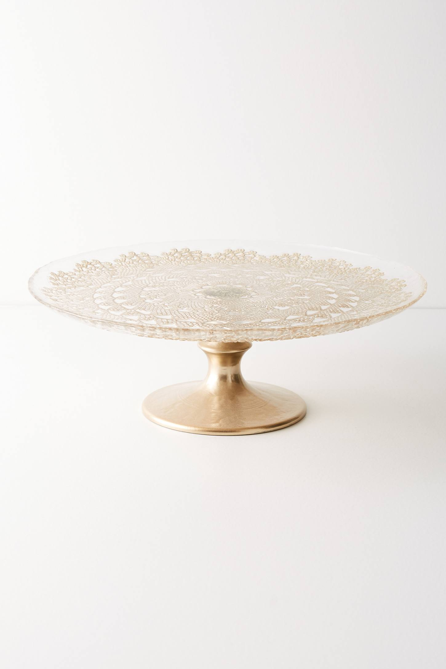 Metallic Lace Cake Stand | Anthropologie