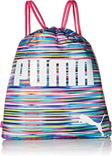 PUMA girls Puma Evercat Advantage Reversible Carrysack Gym Tote Bags - pink - One Size