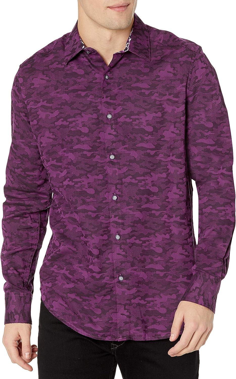 Outstanding Robert Graham Men's Glory Days Woven L Shirt Max 65% OFF S