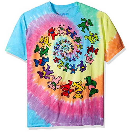Grateful Dead Bear Blocks Pink Dyed Kids Youth Child T Shirt New Official