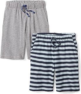Marchio Amazon - Spotted Zebra, pantaloncini da ragazzo, 2 pezzi, in tessuto jersey di maglia