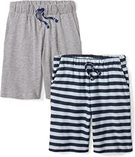 Amazon Brand - Spotted Zebra Boys' Toddler & Kids 2-Pack Jersey Knit Shorts