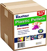 Plastic Pellets Bulk Box for Weighted Blankets (50 LBS) Non-Toxic, Premium Quality Made in The USA for Rock Tumbling, Stuf...