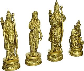 Gangesindia Ram Durbar Carved Brass Sculptures Ram 9