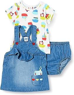 Tuc Tuc Conjunto Pichi Denim Volante Y Camiseta Punto NIÑA Azul AL Agua Gato