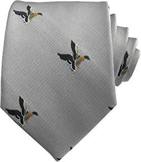 Men's Novelty Ties Flying Ducks Patterned Embroidered Repp Casual Handmade Daily Formal Necktie