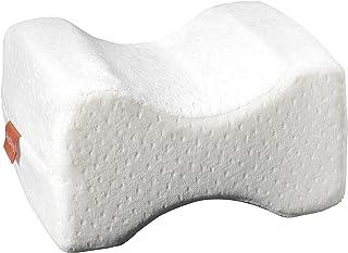 sleepling 190113 Coussin de Soutien Memory Foam pour Genoux 25 x 20 cm, revêtement Velours, Blanc