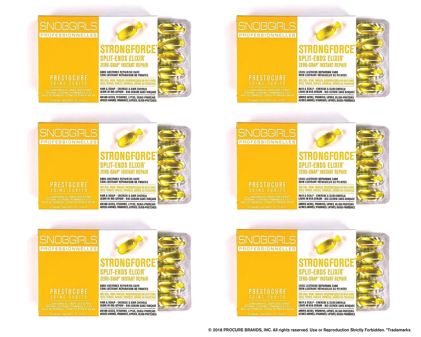壊す目に見える賃金SNOBGIRLS STRONGFORCE TWIST-OFF HAIR CAPSULES - 6×15個のパックのパック(合計90個のパック)