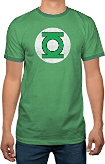 Green Lantern Block Adult Ringer T Dc Shirt M