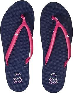United Colors of Benetton Women's Flip Flops Navy Slippers-7 UK/India (40 EU) (19P8CFFPL313I)