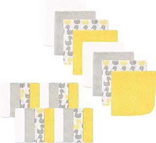 Luvable Friends 24-Piece Washcloths, Yellow Ducks, 24 Count