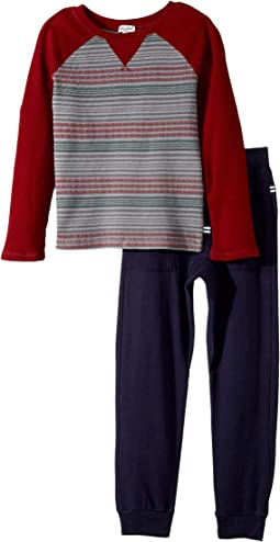 Splendid Littles - Print Stripe Raglan Pants Set (Little Kids/Big Kids)