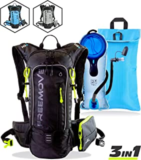 Hydration Pack Backpack with 2L Water Bladder & Cooler Bag or Single Camel Backpack or External Pocket | Lightweight, Fully Adjustable, Leakproof, 10L Gear for Hiking, Cycling, Running, MTB