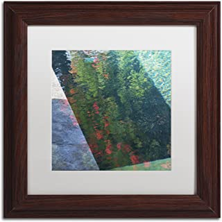 Inspired by Monet by Kurt Shaffer, White Matte, Wood Frame 11x11-Inch