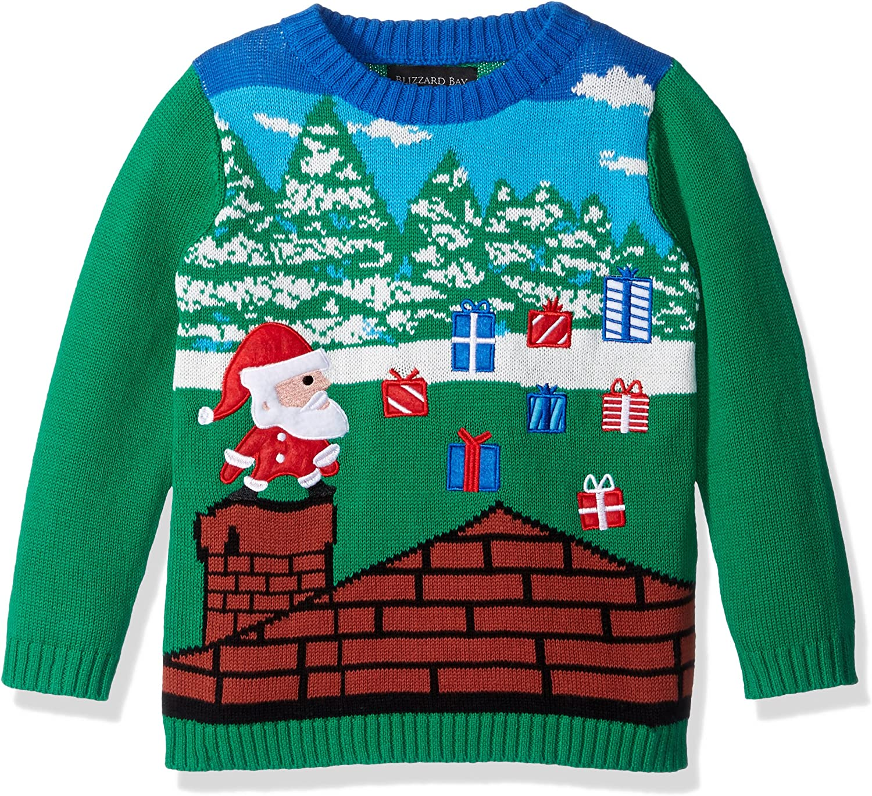 Blizzard Bay Boys' Santa Video Game Xmas Sweater