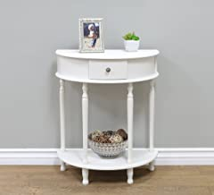 Best white half moon table Reviews