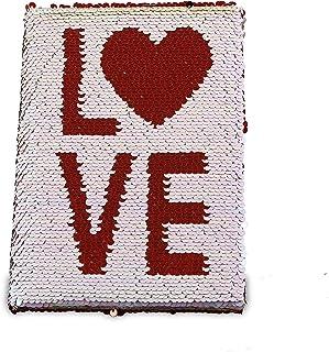 Reversable Sequin Love Notebook