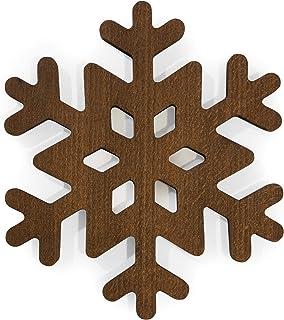 Salvamanteles de copo de nieve de madera, posavasos de tetera, para ollas calientes, sartenes, platos, cocina, decoración de mesa, accesorio