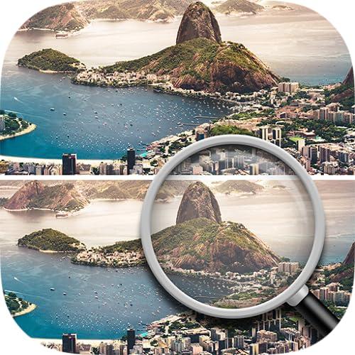 Encuentra las diferencias : Ciudades : Juegos de lógica *Gratis