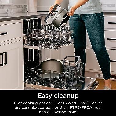 Ninja OL601 Foodi 14-in-1 8-qt. XL Pressure Cooker Steam Fryer with SmartLid, Silver/Black