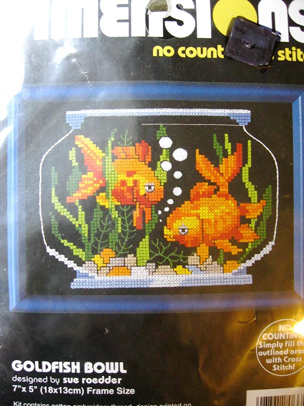 Dimensions No Count Cross Stitch -7x5 - Goldfish Bowl