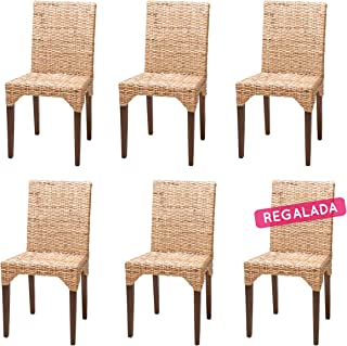 Rotin Design Soldes : -39% Lot de 6 chaises Vitor en kubu