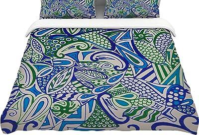 104 x 88 104 x 88 Kess InHouse Anne Labrie Davids Starry Sky!King Cotton Duvet Cover