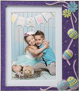 Neil Enterprises Inc. Easter Purple Glitter Pewter Picture Frame