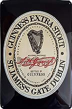 Guinness Logo Cartel de Chapa, Original Brand Nostalgic Retro Metal Plate, 20x 30cm